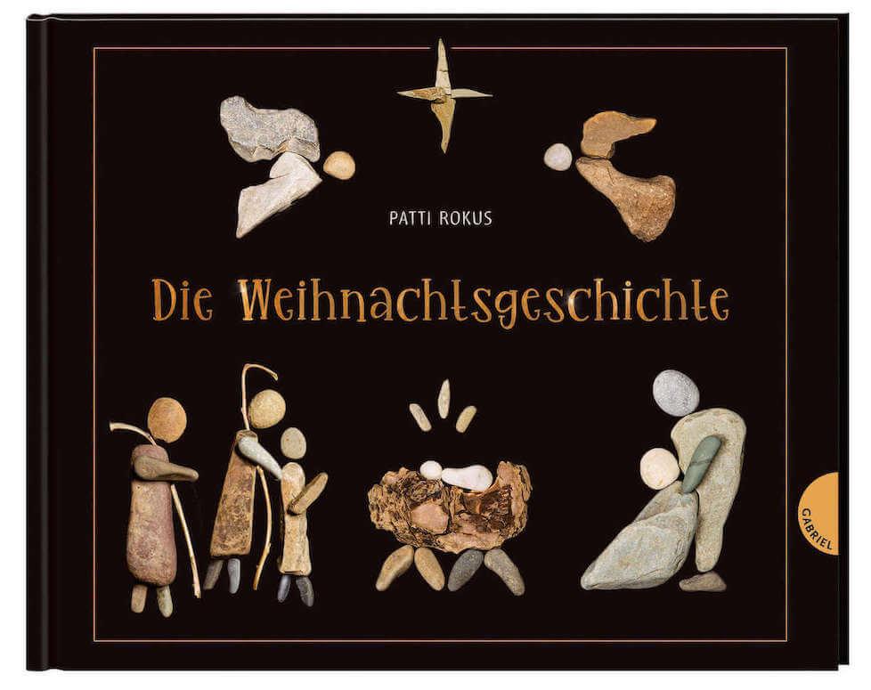 Buch Die Weihnachtsgeschichte aus Stein gelegt, Bilderbuch