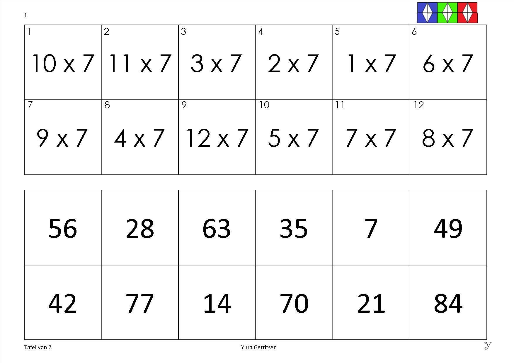 Vermenigvuldiging Werkbladen Dubbele Cijfers 2