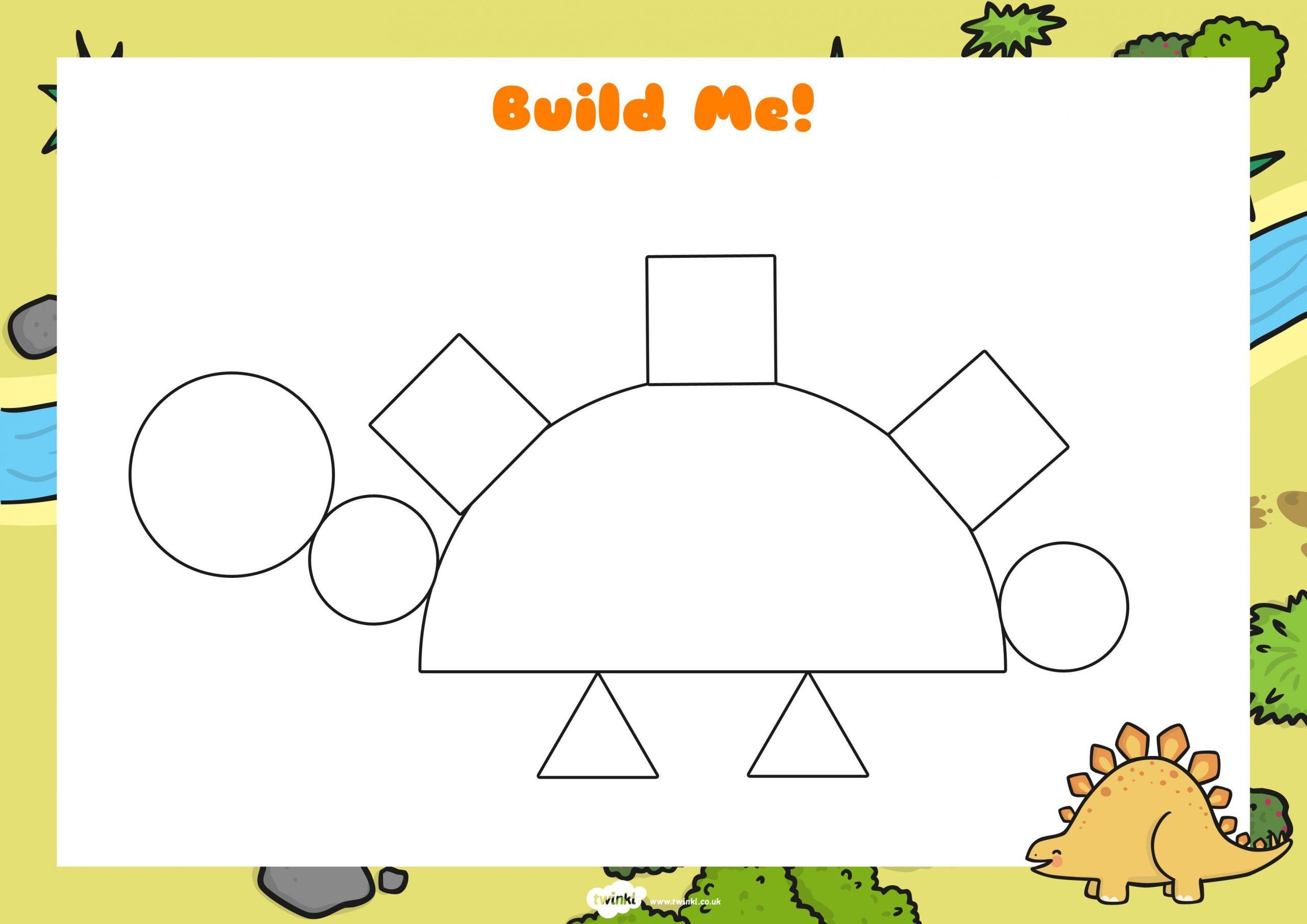 Voorschoolse Werkbladen Dinosaurussen 3