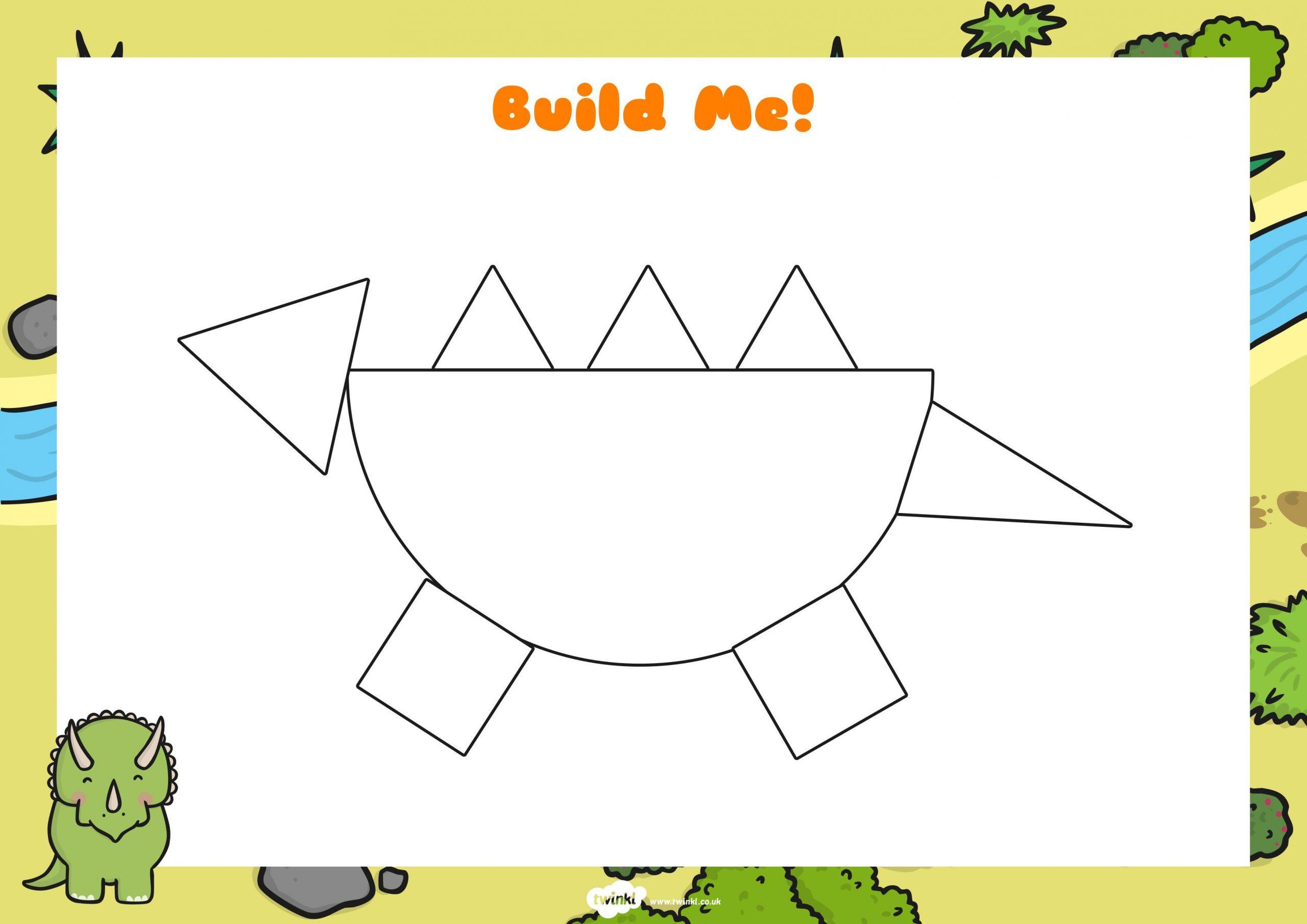 Voorschoolse Werkbladen Dinosaurussen 8