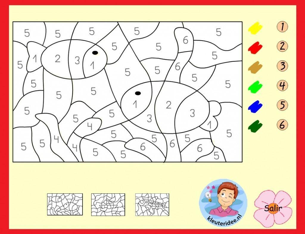 Voorschoolse Werkbladen Kleuren Op Nummer 1