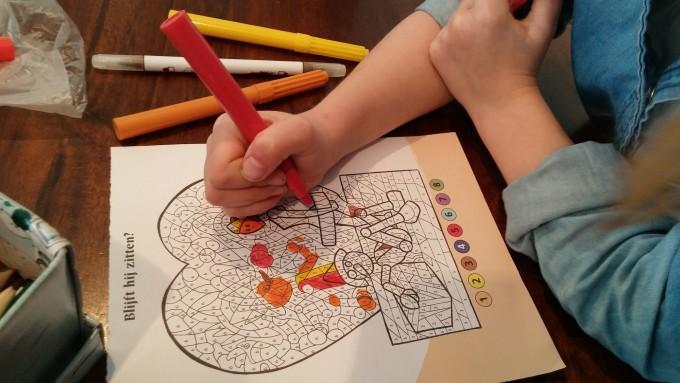 Voorschoolse Werkbladen Kleuren Op Nummer 7
