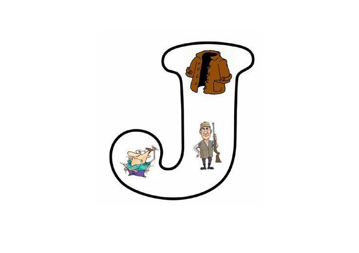 Voorschoolse Werkbladen Letter J 3