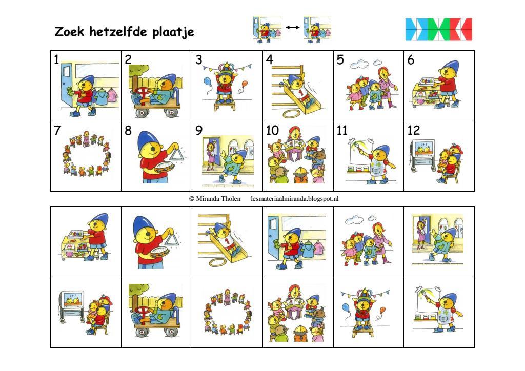 Voorschoolse Werkbladen Dierentuindieren 1