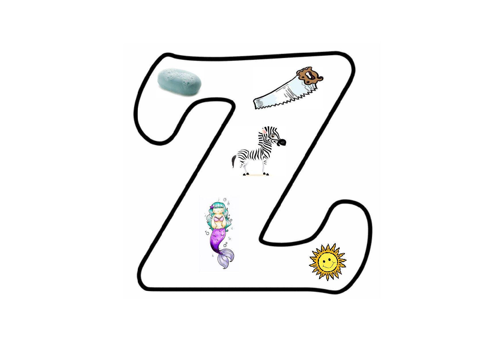Voorschoolse Werkbladen Letter Z 1