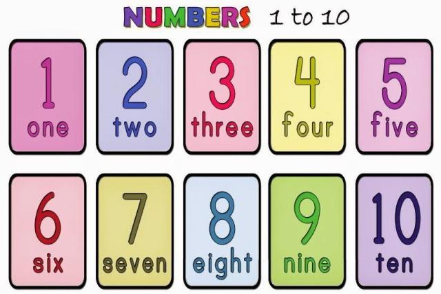 Voorschoolse Werkbladen Nummers 1-10 1