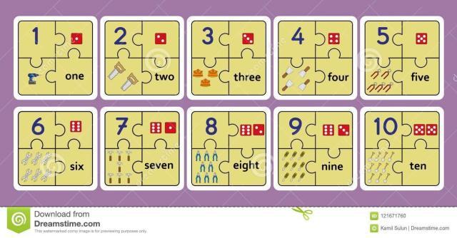 Voorschoolse Werkbladen Nummers 1-10 6