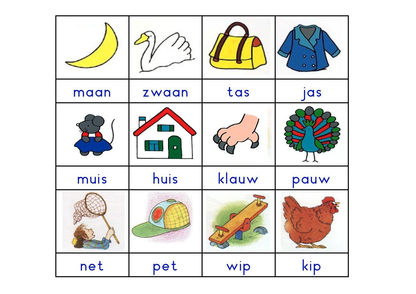 Voorschoolse Werkbladen Rijmwoorden 5