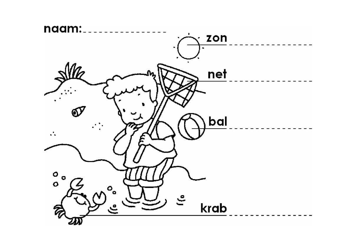 Voorschoolse Werkbladen Zomer 1
