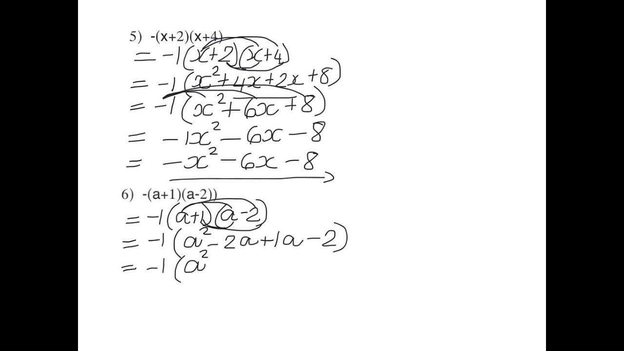 Algebra-werkbladen Graad 8 4