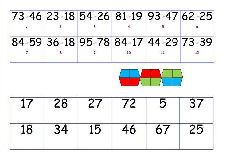 Wiskunde-werkbladen Aftrekken Met Hergroeperen 5
