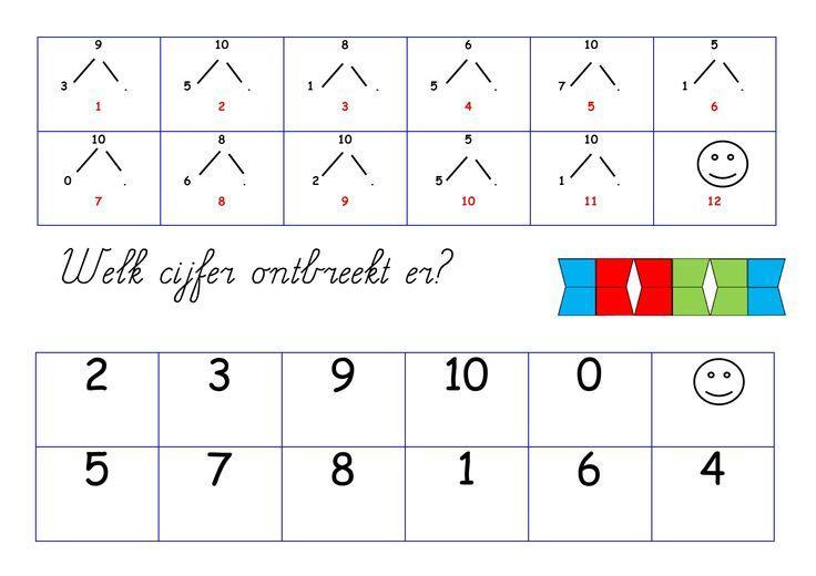 Wiskunde-werkbladen Nummers 1-50 1