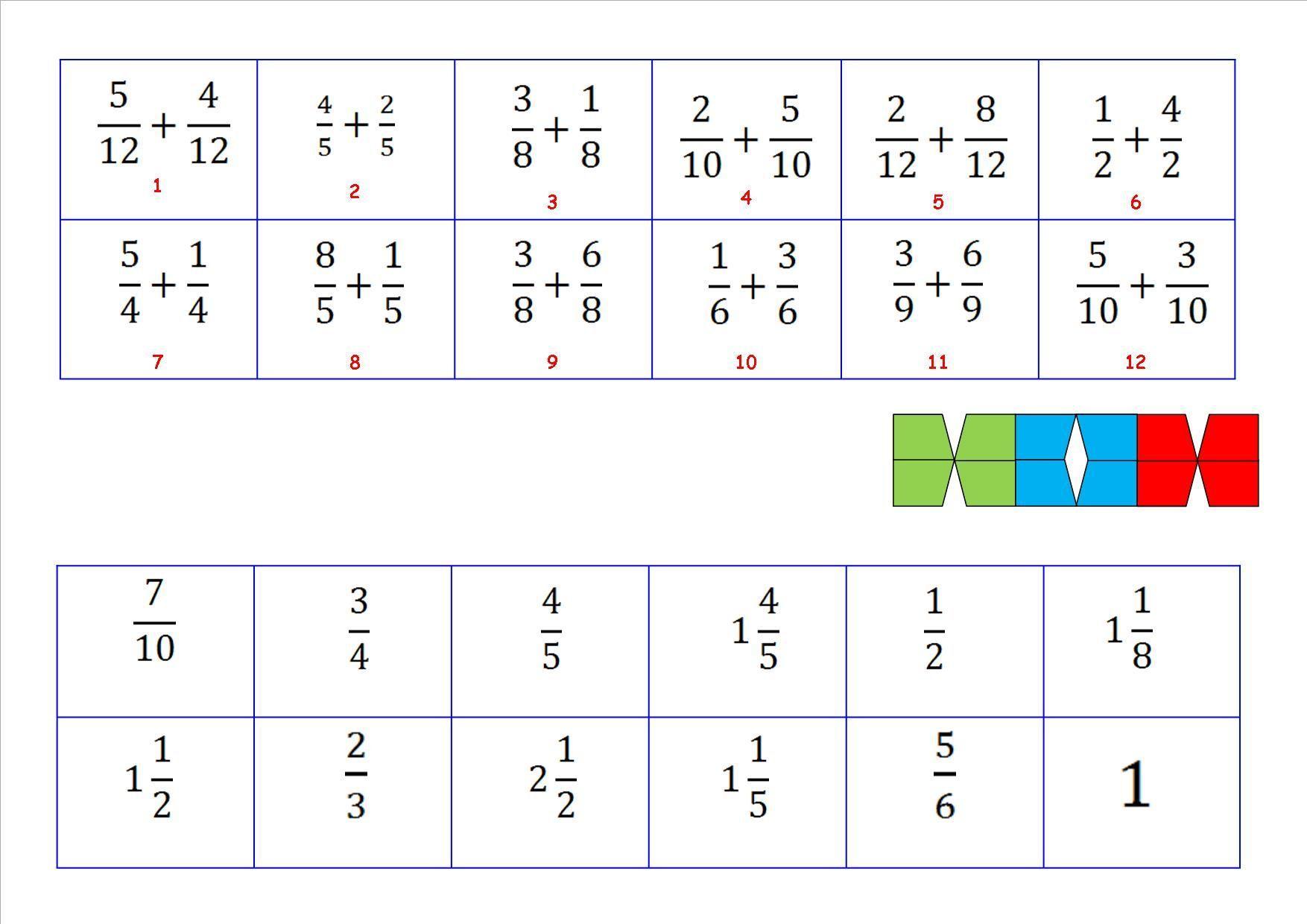 Wiskunde-werkbladen Over Breuken 6