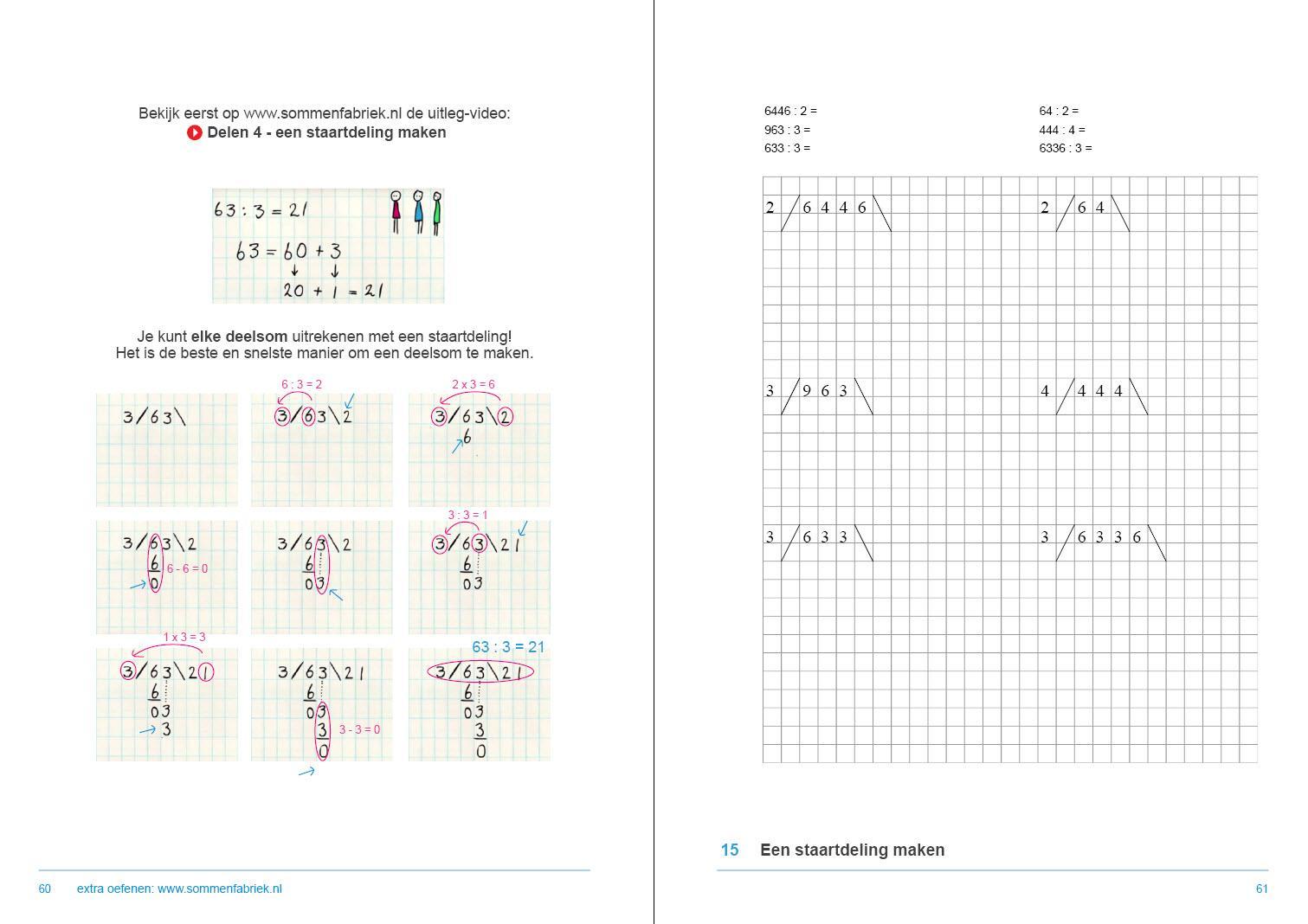Wiskunde Werkbladen Staartdeling 9