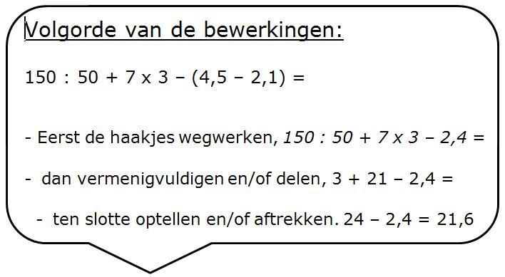 Wiskunde Werkbladen Volgorde Van Bewerkingen 3