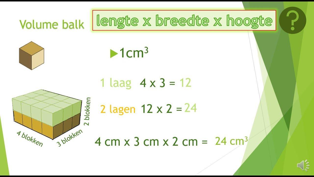 Wiskunde Werkbladen Volume Van Driehoekig Prisma 8