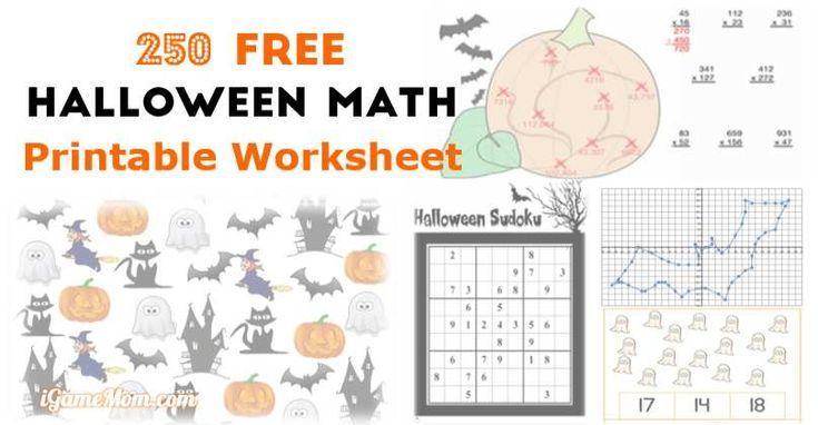 Algebra Halloween-werkbladen 1