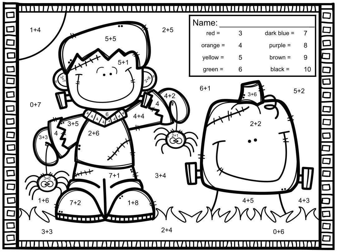 Algebra Halloween-werkbladen 4