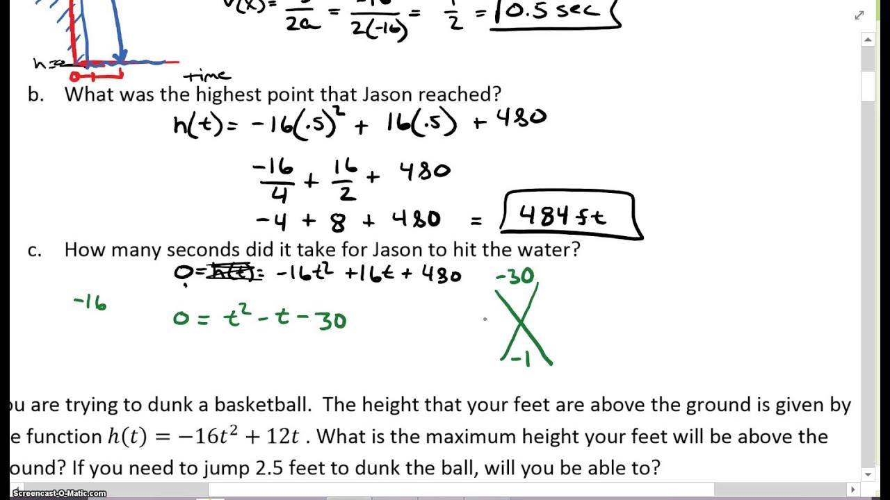 Algebra Ii-werkbladen 1
