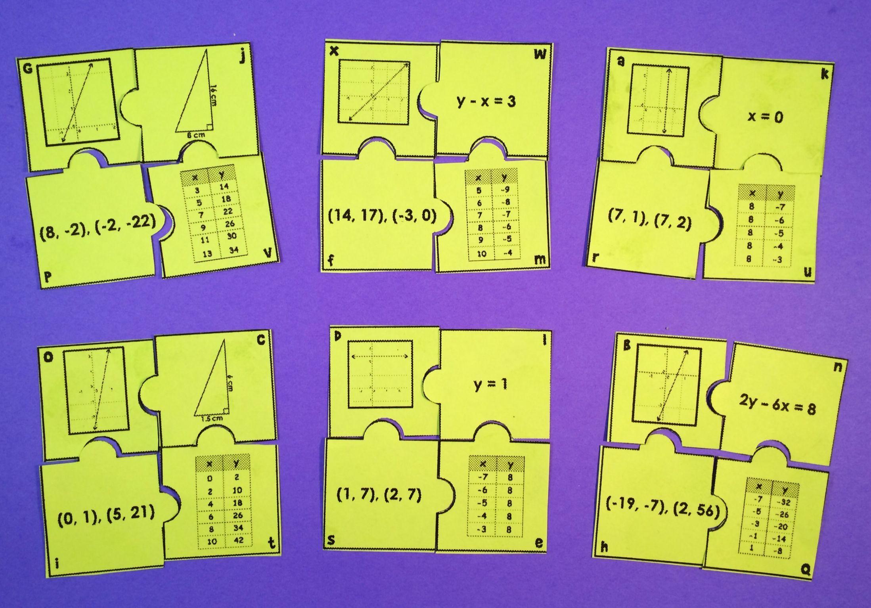 Algebra Puzzel Werkbladen Middelbare School 1