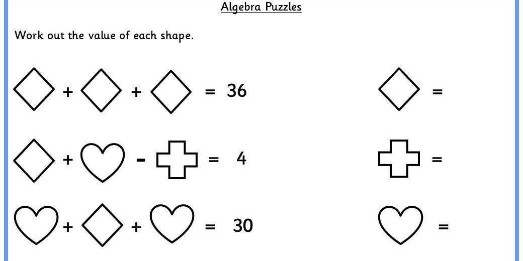 Algebra Puzzel Werkbladen Middelbare School 3