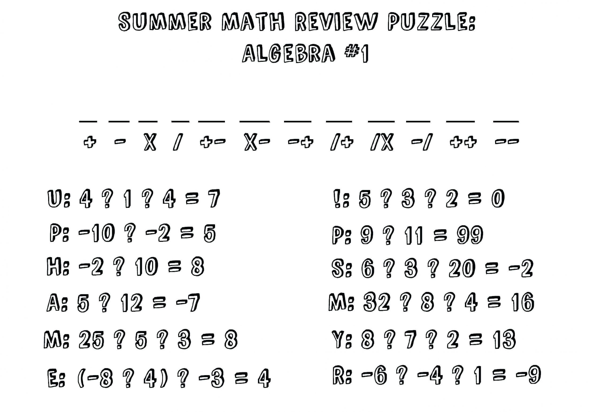 Algebra-werkbladen Ks2 6