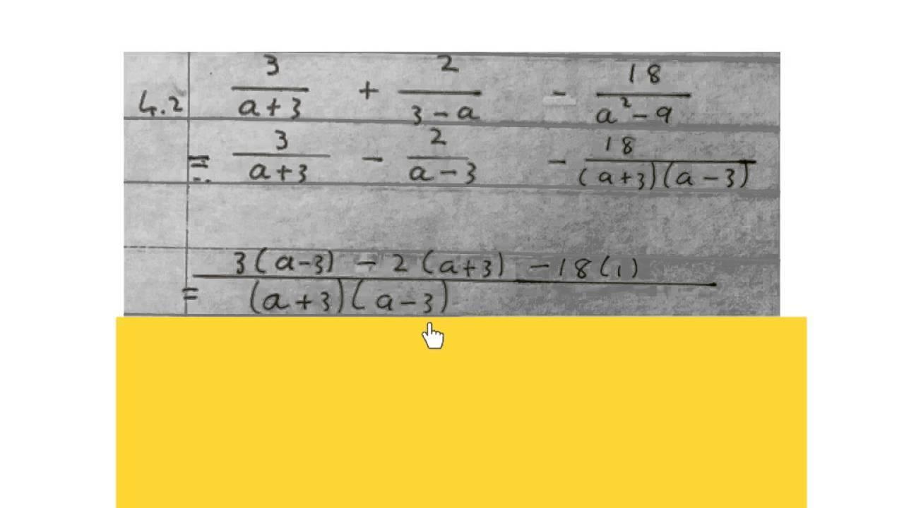 Algebra-werkbladen Voor Graad 5 1