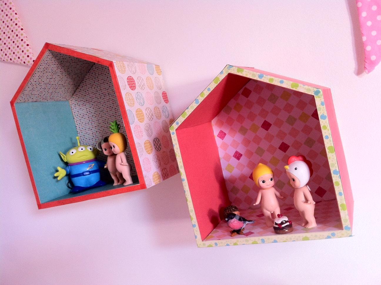 l etagere petite maison en bois