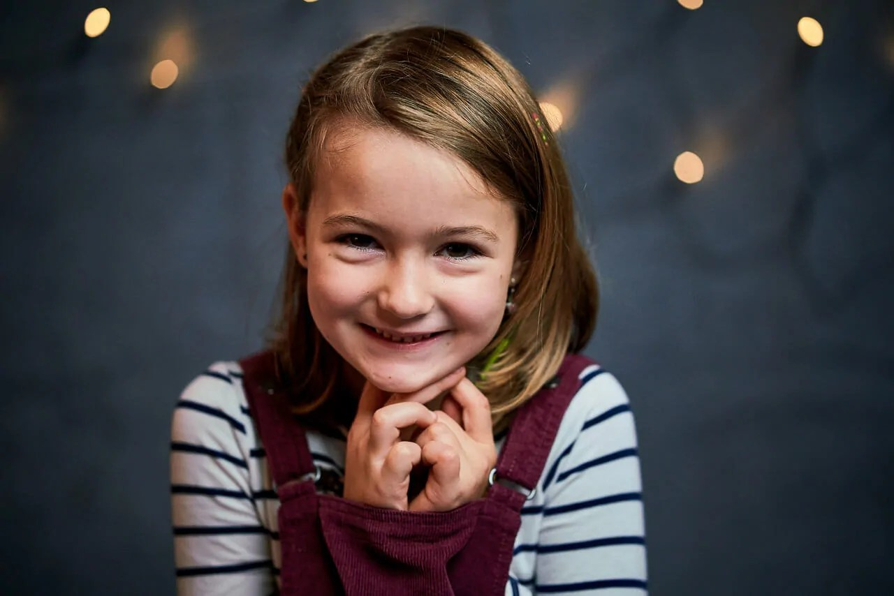 Kindergartenfotografie Bruchsal Weihnachtsfotos im Studio