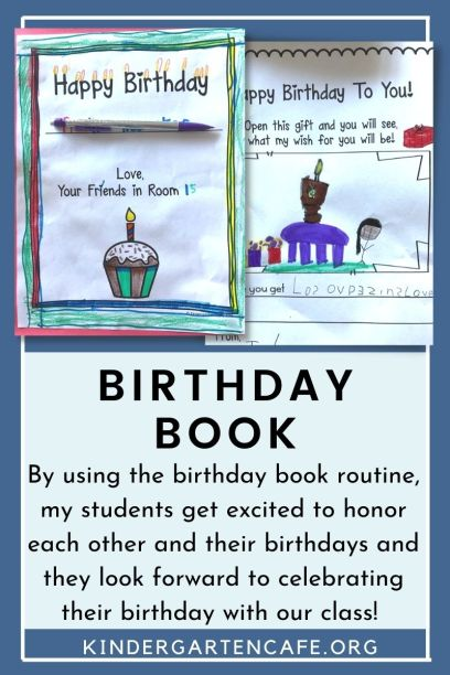 Motivating a student by making them feel special on their birthday with a class birthday book.