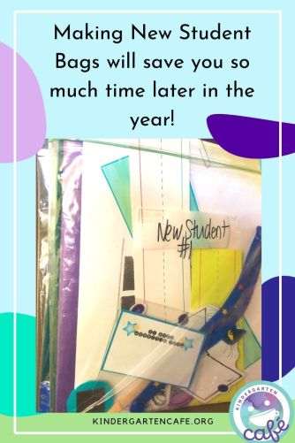 New student bags help save so much time and stress and are a must do for welcome to back to school!