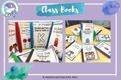 Class books are used and loved in a welcoming classroom environment.
