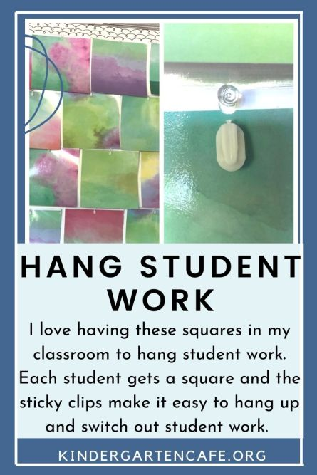A welcoming classroom environment has places to hang student work.