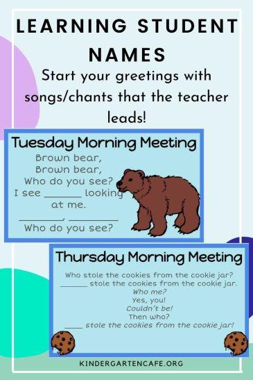 kindergarten name unit greetings