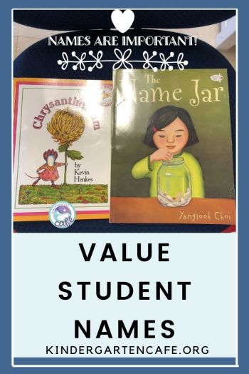 a kindergarten name project value student names