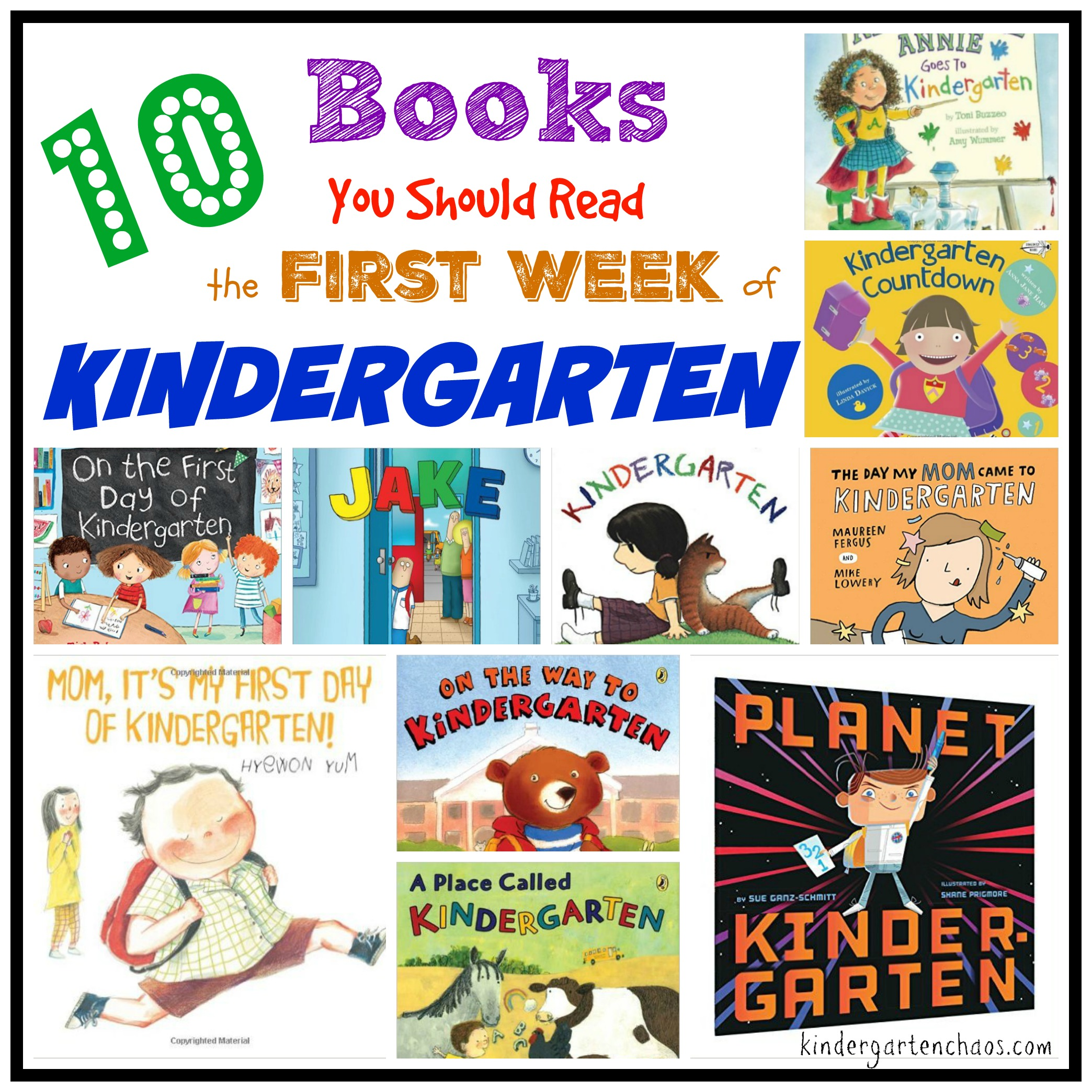 10 Must Read Books For The First Week Of Kindergarten