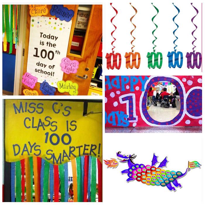 100th Day Of School Door Decorating Ideas