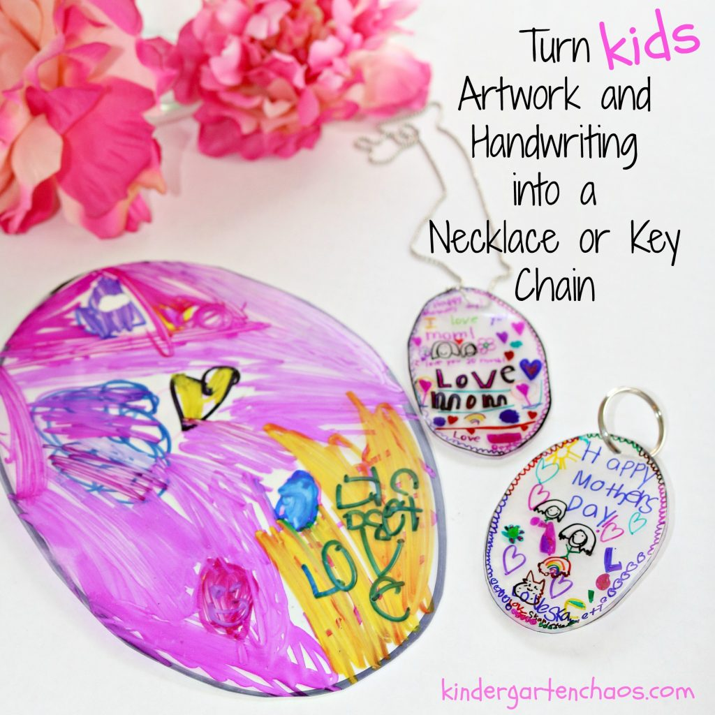 Kid Made Mother S Day Ts Necklace Or Key Chain