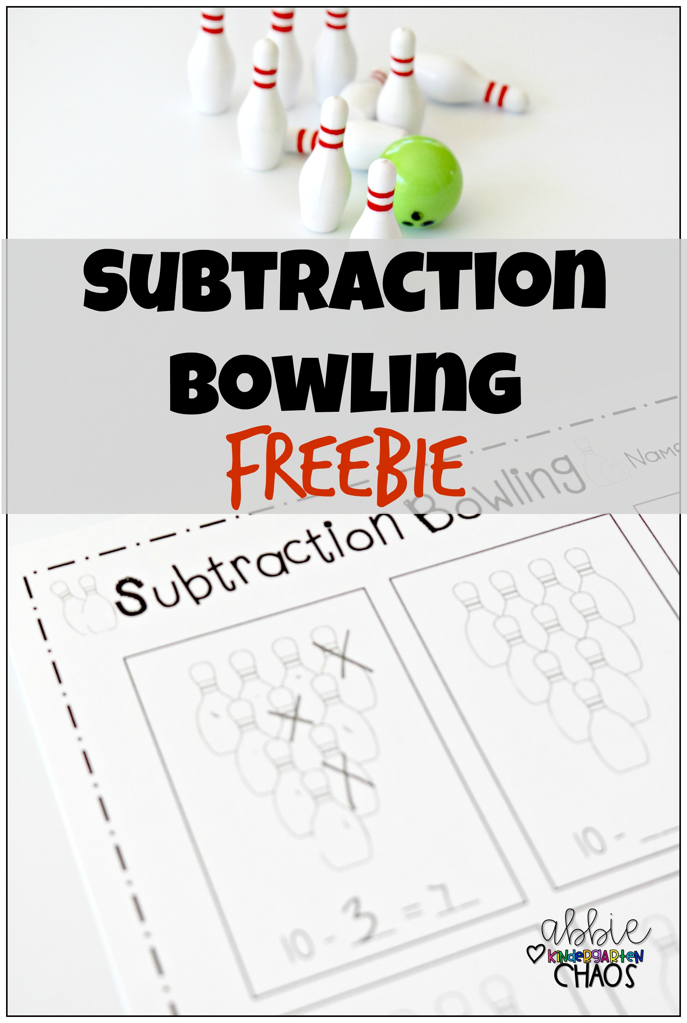 Free Printable Subtraction Bowling