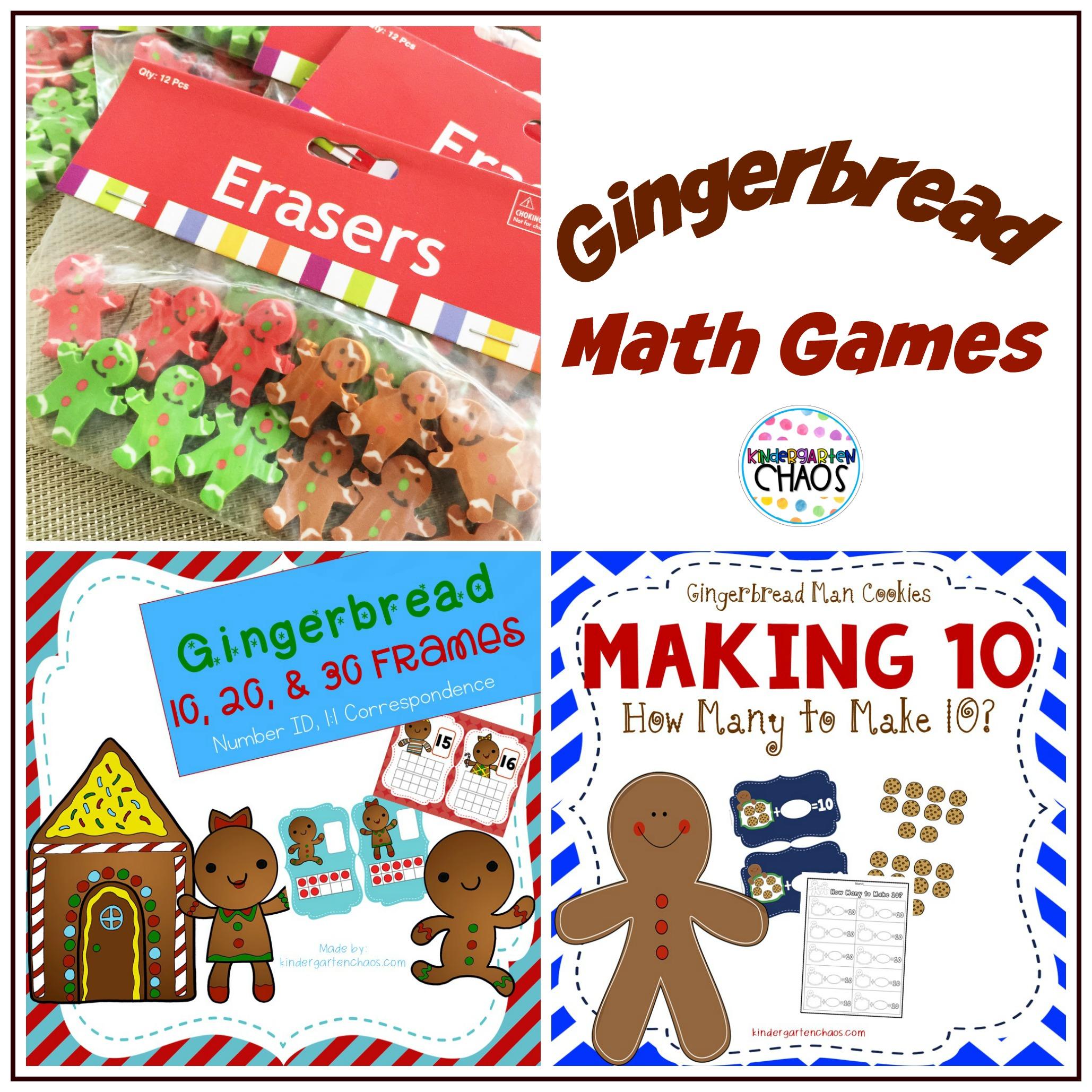 Gingerbread Math Games