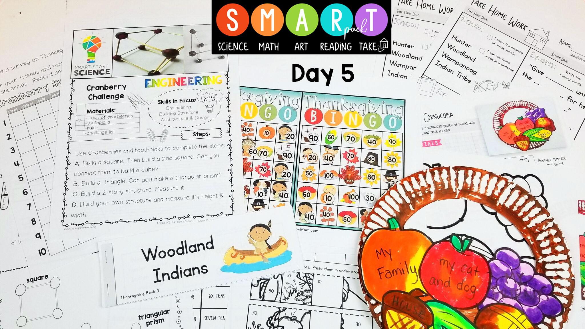 Thanksgiving Smart Pack For Kindergarten