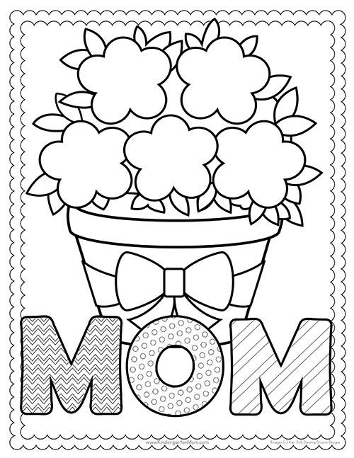 Mother S Day Printables Kindergarten Mom