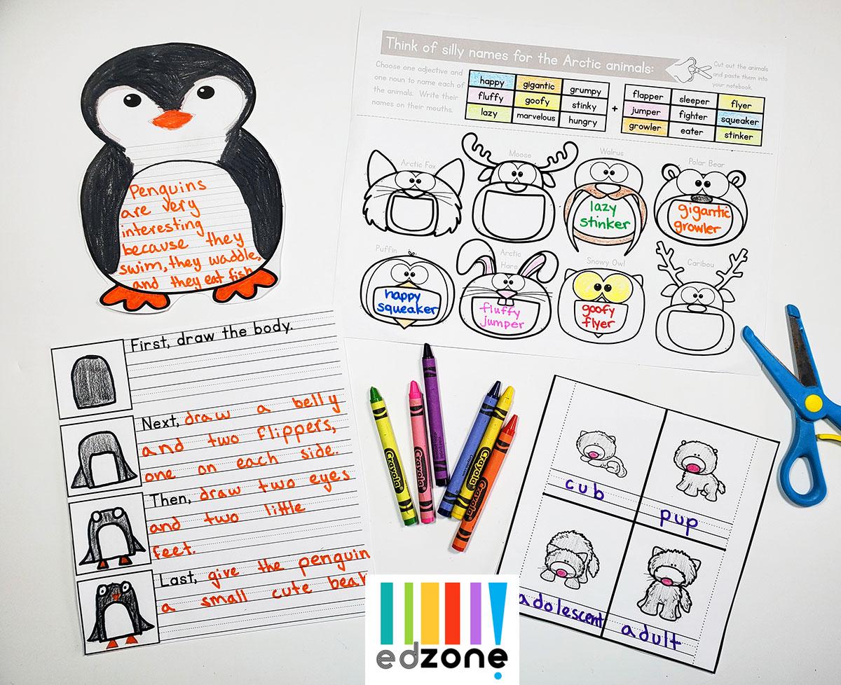 Kindergartenwinterwritingprompts
