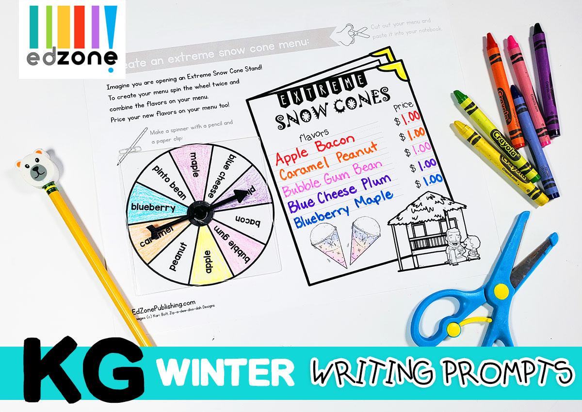 Kindergartenwritingpromptswinter