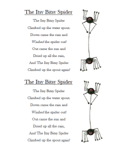 The Itsy Bitsy Spider Printable