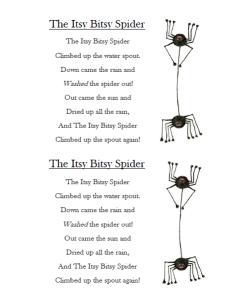 itsy bitsy spider song lyrics youtube