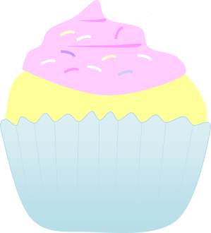 pink and blue cupcake clip art