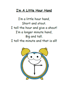 Im A Little Hour Hand Song Lyrics and FREE Printable Poem