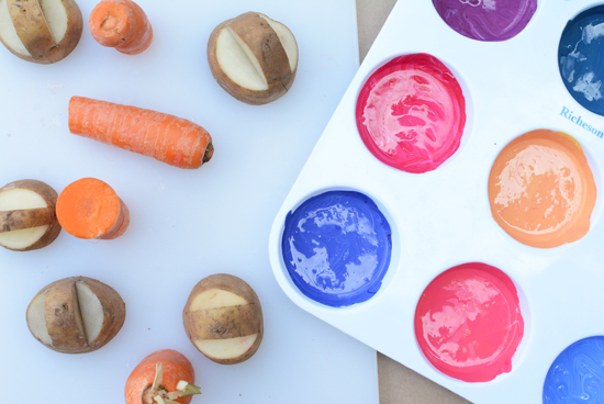 Making Patterns With Vegetables - PreK Lesson