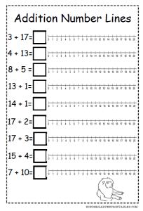 number line addition worksheets free printables. Black Bedroom Furniture Sets. Home Design Ideas